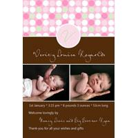 Birth Announcements and Baby Thank You Photo Cards for Girls - GA23