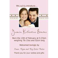 Birth Announcements and Baby Thank You Photo Cards for Girls - GA25