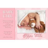 Birth Announcements and Baby Thank You Photo Cards for Girls - GA30