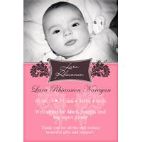 Birth Announcements and Baby Thank You Photo Cards for Girls - GA44