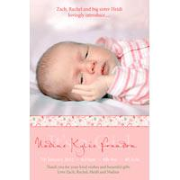 Girl Birth Announcements and Baby Thank You Photo Cards GA60-Photo cards, personalised photo cards, photocards, personalised photocards, baby cards, personalised baby cards, birth announcements, personalised birth announcements, christening invitations, personalised christening invitations, personalised invitations, personalised announcements, invitations, announcements, photo invitations, photo announcements, personalised photo invitations, personalised photo announcements, announcement cards, announcement photo cards, photo christening invitations, photo announcements, birthday invitations, personalised birthday invitations, photo birthday invitations, photocard birth announcements, photo card birth announcements, personalised photo card birth announcement, personalised photo birthday invitation, personalised invites, birth celebrations, personalised celebrations, personalised birth celebrations, baptism invitations, personalised baptism invitations, personalised photo baptism invitations, pregnancy announcements, pregnancy announcement cards,  pregnancy cards, personalised pregnancy announcements, personalised pregnancy announcement cards, personalised pregnancy cards, baby shower invitations, personalised baby shower invitations, engagement invitations, personalised engagement invitations, photo engagement invitations, personalised photo engagement invitations, engagement photo cards, save the date cards, personalised save the date cards, photo save the date cards, wedding thank-you cards, personalised wedding thank-you cards, wedding thank-you photo cards,