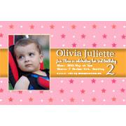 Birthday Invitations and Thank you Photo Cards for Girls - GB01