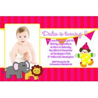 Birthday Invitations and Thank you Photo Cards for Girls - GB03