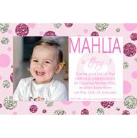 Birthday Invitations and Thank you Photo Cards for Girls - GB07
