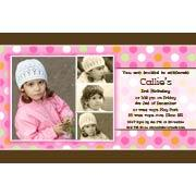 Birthday Invitations and Thank you Photo Cards for Girls - GB08