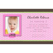 Birthday Invitations and Thank you Photo Cards for Girls - GB09