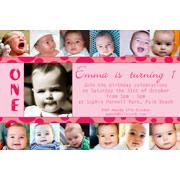 Birthday Invitations and Thank you Photo Cards for Girls - GB10