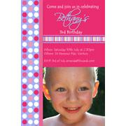 Girl Birthday Invitations and Thank you Photo Cards GB19-Photo cards, personalised photo cards, photocards, personalised photocards, personalised invitations, photo invitations, personalised photo invitations, invitation cards, invitation photo cards, photo invites, photocard birthday invites, photo card birth invites, personalised photo card birthday invitations, thank-you photo cards,