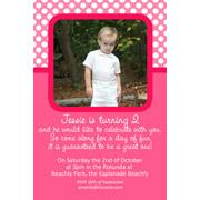 Girl Birthday Invitations and Thank You Photo Cards GB33-Photo cards, personalised photo cards, photocards, personalised photocards, personalised invitations, photo invitations, personalised photo invitations, invitation cards, invitation photo cards, photo invites, photocard birthday invites, photo card birth invites, personalised photo card birthday invitations, thank-you photo cards,
