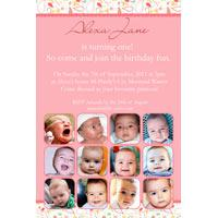 Girl Birthday Invitations and Thank you Photo Cards GB35-Photo cards, personalised photo cards, photocards, personalised photocards, personalised invitations, photo invitations, personalised photo invitations, invitation cards, invitation photo cards, photo invites, photocard birthday invites, photo card birth invites, personalised photo card birthday invitations, thank-you photo cards,