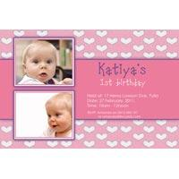 Girl Birthday Invitations and Thank You Photo Cards GB39-Photo cards, personalised photo cards, photocards, personalised photocards, personalised invitations, photo invitations, personalised photo invitations, invitation cards, invitation photo cards, photo invites, photocard birthday invites, photo card birth invites, personalised photo card birthday invitations, thank-you photo cards, star birthday photo invitations, heart birthday photo invitations