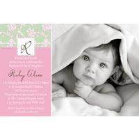 Christening, Baptism and Naming Day Invitations Photo Cards and Thank You Cards for Girls - GC01
