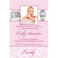 Christening, Baptism and Naming Day Invitations Photo Cards and Thank You Cards for Girls - GC02