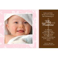 Christening, Baptism and Naming Day Invitations Photo Cards and Thank You Cards for Girls - GC03