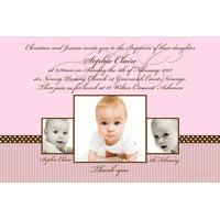 Christening, Baptism and Naming Day Invitations Photo Cards and Thank You Cards for Girls - GC04