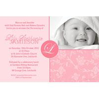 Christening, Baptism and Naming Day Invitations Photo Cards and Thank You Cards for Girls - GC05