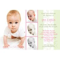 Christening, Baptism and Naming Day Invitations Photo Cards and Thank You Cards for Girls - GC06
