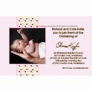 Christening, Baptism and Naming Day Invitations Photo Cards and Thank You Cards for Girls - GC08