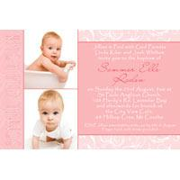 Christening, Baptism and Naming Day Invitations Photo Cards and Thank You Cards for Girls - GC11