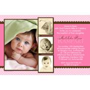 Girl Baptism, Christening and Naming Day Invitations and Thank You Photo Cards GC25-