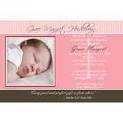 Christening, Baptism and Naming Day Invitations Photo Cards and Thank You Cards for Girls - GC34
