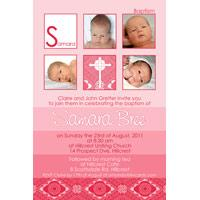 Girl Baptism, Christening and Naming Day Invitations and Thank You Photo Cards GC42-Photo cards, personalised photo cards, photocards, personalised photocards, personalised invitations, photo invitations, personalised photo invitations, invitation cards, invitation photo cards, photo invites, photocard birthday invites, photo card birth invites, personalised photo card birthday invitations, thank-you photo cards,