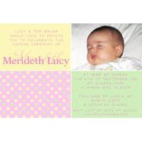 Girl Baptism, Christening and Naming Day Invitations and Thank You Photo Cards GC43-