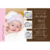Girl Baptism, Christening and Naming Day Invitations and Thank You Photo Cards GC48-