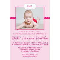 Girl Baptism, Christening and Naming Day Invitations and Thank You Photo Cards GC49-