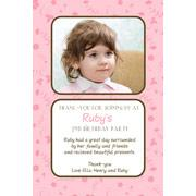 Girl Thank You Photo Cards for Baby, Baptism and Birthday GT06-Photo Cards, Photo invitations, Birth Announcements, Birth Announcement Cards, Christening Photo Invitations, Baptism Photo Invitations, Naming Day Photo Invitaitons, Birthday  Photo Invitations, Pregnancy Announcement Cards,Thankyou Photo Cards