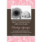 Girl Thank You Photo Cards for Baby, Baptism and Birthday GT10-Photo Cards, Photo invitations, Birth Announcements, Birth Announcement Cards, Christening Photo Invitations, Baptism Photo Invitations, Naming Day Photo Invitaitons, Birthday  Photo Invitations, Pregnancy Announcement Cards,Thankyou Photo Cards