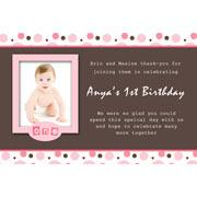 Girl Thank You Photo Cards for Baby, Baptism and Birthday GT12-Photo Cards, Photo invitations, Birth Announcements, Birth Announcement Cards, Christening Photo Invitations, Baptism Photo Invitations, Naming Day Photo Invitaitons, Birthday  Photo Invitations, Pregnancy Announcement Cards,Thankyou Photo Cards