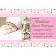 Girl Thank You Photo Cards for Baby, Baptism and Birthday GT16-Photo Cards, Photo invitations, Birth Announcements, Birth Announcement Cards, Christening Photo Invitations, Baptism Photo Invitations, Naming Day Photo Invitaitons, Birthday  Photo Invitations, Pregnancy Announcement Cards,Thankyou Photo Cards
