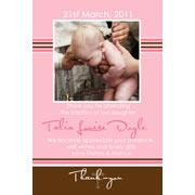 Girl Thank You Photo Cards for Baby, Baptism and Birthday GT17-Photo Cards, Photo invitations, Birth Announcements, Birth Announcement Cards, Christening Photo Invitations, Baptism Photo Invitations, Naming Day Photo Invitaitons, Birthday  Photo Invitations, Pregnancy Announcement Cards,Thankyou Photo Cards