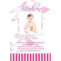 Girl Thank You Photo Cards for Baby, Baptism and Birthday GT20-Photo Cards, Photo invitations, Birth Announcements, Birth Announcement Cards, Christening Photo Invitations, Baptism Photo Invitations, Naming Day Photo Invitaitons, Birthday  Photo Invitations, Pregnancy Announcement Cards,Thankyou Photo Cards