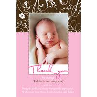 Girl Thank You Photo Cards for Baby, Baptism and Birthday GT21-Photo Cards, Photo invitations, Birth Announcements, Birth Announcement Cards, Christening Photo Invitations, Baptism Photo Invitations, Naming Day Photo Invitaitons, Birthday  Photo Invitations, Pregnancy Announcement Cards,Thankyou Photo Cards