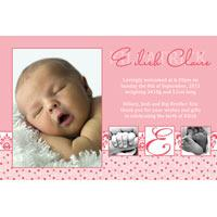 Girl Thank You Photo Cards for Baby, Baptism and Birthday GT22-Photo Cards, Photo invitations, Birth Announcements, Birth Announcement Cards, Christening Photo Invitations, Baptism Photo Invitations, Naming Day Photo Invitaitons, Birthday  Photo Invitations, Pregnancy Announcement Cards,Thankyou Photo Cards