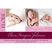Girl Thank You Photo Cards for Baby, Baptism and Birthday GT24-Photo Cards, Photo invitations, Birth Announcements, Birth Announcement Cards, Christening Photo Invitations, Baptism Photo Invitations, Naming Day Photo Invitaitons, Birthday  Photo Invitations, Pregnancy Announcement Cards,Thankyou Photo Cards