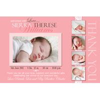 Girl Thank You Photo Cards for Baby, Baptism and Birthday GT25-Photo Cards, Photo invitations, Birth Announcements, Birth Announcement Cards, Christening Photo Invitations, Baptism Photo Invitations, Naming Day Photo Invitaitons, Birthday  Photo Invitations, Pregnancy Announcement Cards,Thankyou Photo Cards