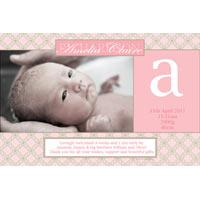 Girl Thank You Photo Cards for Baby, Baptism and Birthday GT26-Photo Cards, Photo invitations, Birth Announcements, Birth Announcement Cards, Christening Photo Invitations, Baptism Photo Invitations, Naming Day Photo Invitaitons, Birthday  Photo Invitations, Pregnancy Announcement Cards,Thankyou Photo Cards
