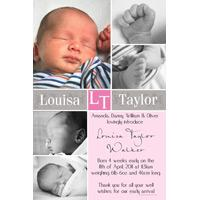 Girl Thank You Photo Cards for Baby, Baptism and Birthday GT29-Photo Cards, Photo invitations, Birth Announcements, Birth Announcement Cards, Christening Photo Invitations, Baptism Photo Invitations, Naming Day Photo Invitaitons, Birthday  Photo Invitations, Pregnancy Announcement Cards,Thankyou Photo Cards