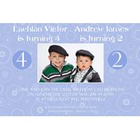 Brothers Photo Birthday Invitations and Thank you Cards SB01-Photo cards, personalised photo cards, photocards, personalised photocards, personalised invitations, photo invitations, personalised photo invitations, invitation cards, invitation photo cards, photo invites, photocard birthday invites, photo card birth invites, personalised photo card birthday invitations, thank-you photo cards,
