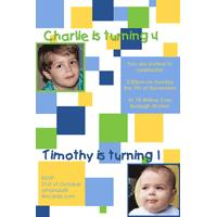 Brothers Photo Birthday Invitations and Thank you Cards SB04-Photo cards, personalised photo cards, photocards, personalised photocards, personalised invitations, photo invitations, personalised photo invitations, invitation cards, invitation photo cards, photo invites, photocard birthday invites, photo card birth invites, personalised photo card birthday invitations, thank-you photo cards,