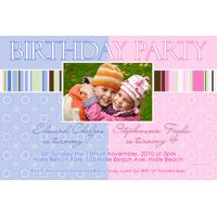 Brother and Sister Photo Birthday Invitations and Thank you Cards SB14-Brother and Sister Photo Baptism Christening Naming and Birthday Invitations and Thank you Cards