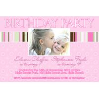 Sisters Photo Birthday Invitations and Thank you Cards SB15-Photo cards, personalised photo cards, photocards, personalised photocards, personalised invitations, photo invitations, personalised photo invitations, invitation cards, invitation photo cards, photo invites, photocard birthday invites, photo card birth invites, personalised photo card birthday invitations, thank-you photo cards,