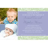 Brothers Photo Baptism Christening and Naming Invitations and Thank you Cards SC04-