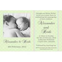 Sibling Photo Baptism Christening and Naming Day Invitations and Thank you Cards SC11-Sibling Photo Baptism Christening Naming and Birthday Invitations and Thank you Cards