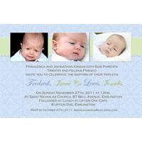 Brothers Photo Baptism Christening and Naming Invitations and Thank you Cards SC13-