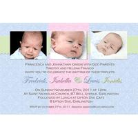 Sibling Photo Baptism Christening and Naming Day Invitations and Thank you Cards SC14-Sibling Photo Baptism Christening Naming and Birthday Invitations and Thank you Cards