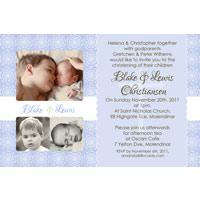 Brothers Photo Baptism Christening and Naming Invitations and Thank you Cards SC16-